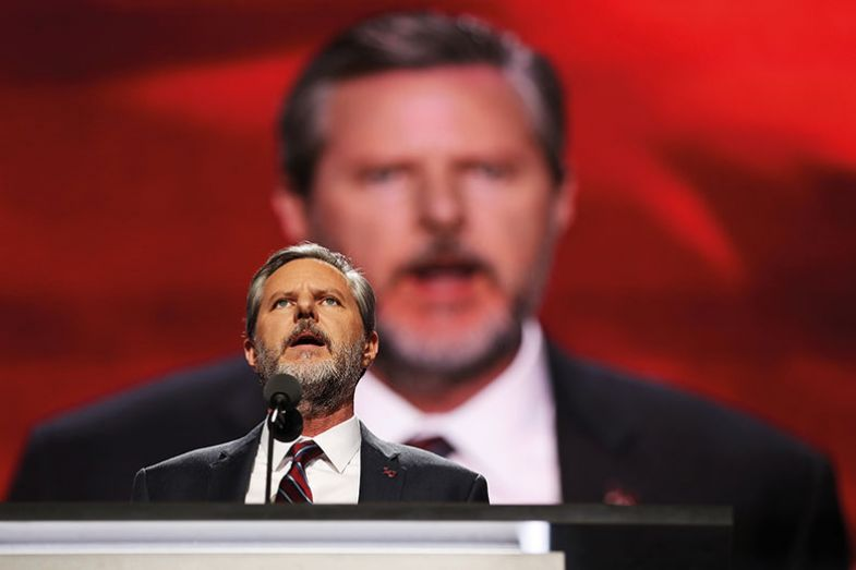 Liberty University president Jerry Falwell Jr
