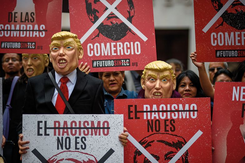 unam trump protest