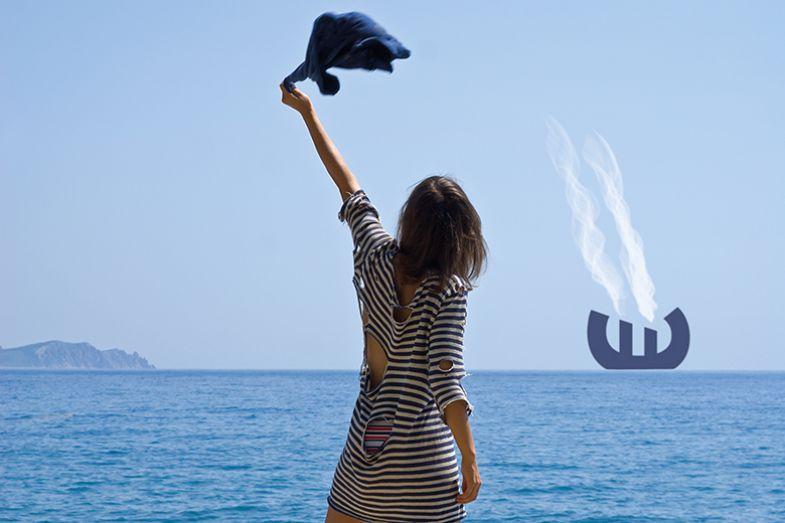 Shipwrecked woman flags down euro ship