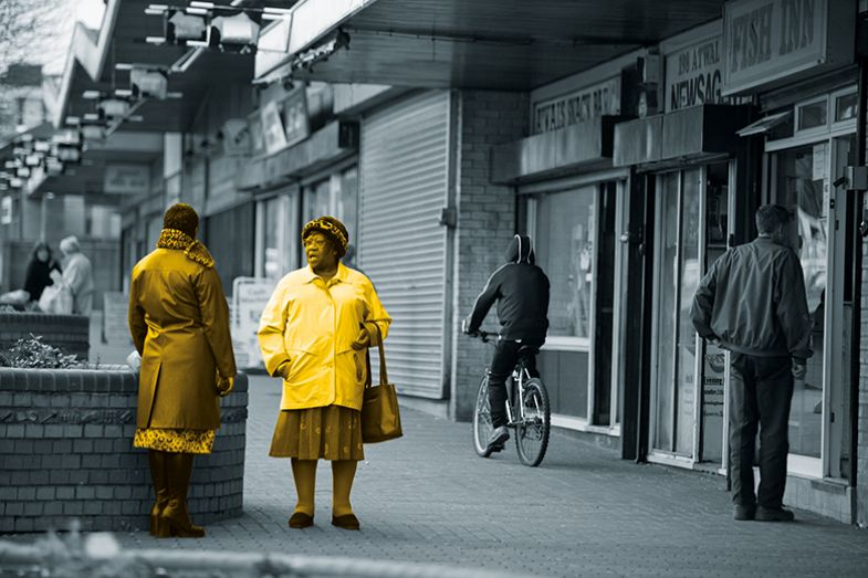 Two women in the street