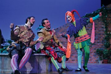 Actors performing in William Shakespeare's Twelfth Night