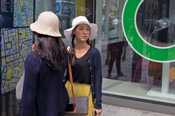 Asian tourists in London