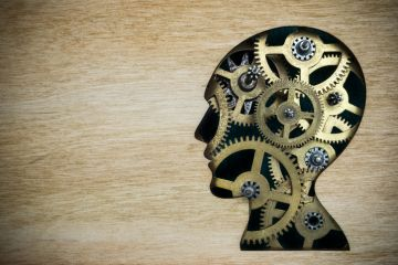 Brain made up of rusting gears