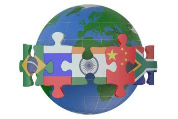 BRICS & Emerging Economies countries concept illustration