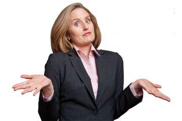 Businesswoman shrugging