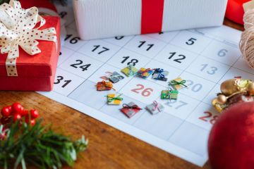 Calendar showing 26 December/Boxing Day
