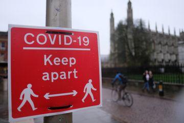 Covid sign in Cambridge