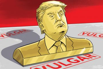 Dan Mitchell illustration of Donald Trump (3 November 2016)