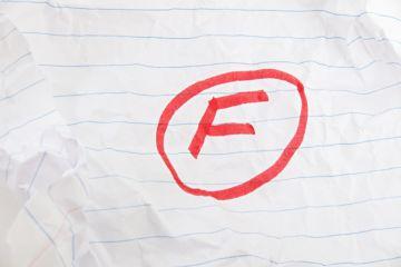 fail, failure, F, grade