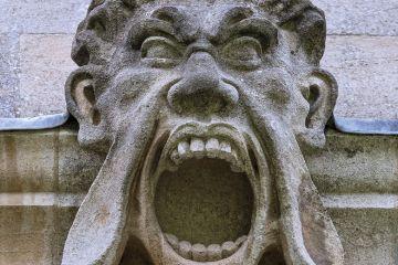 A stone gargoyle