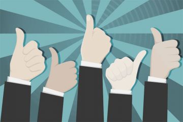 Hands with thumbs up (approval) illustration