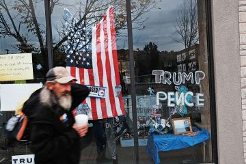 Homeless outside Trump campaign office