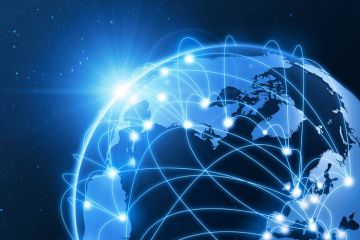Interconnected globe (illustration)