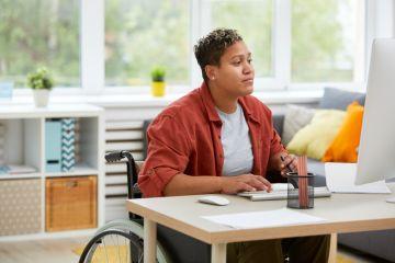 Disabled online learner