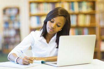black female student at university