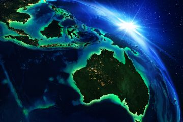 Australia Indonesia Malaysia South-east Asia globe