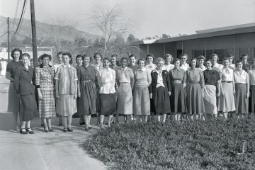 Nasa Jet Propulsion Laboratory team, Pasadena, California, 1953