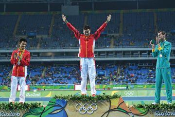 China and Australia on Olympic medal podium