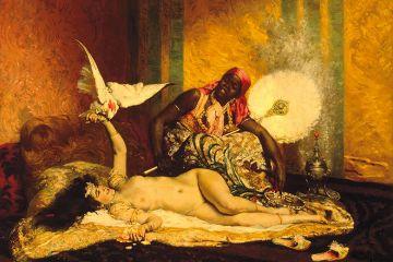 Ferdinand Roybet, Odalisque (La Sultane), c. 1875