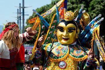 People celebrating Chinese Year of the Snake, Wellington, New Zealand