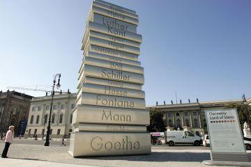 A pile of books in Berlin