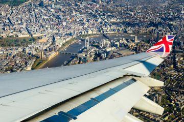 Plane landing in UK