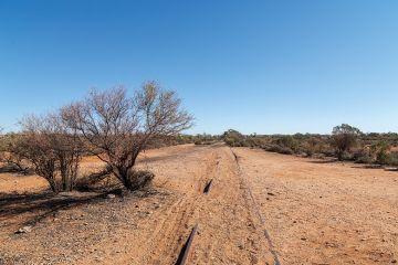 Railway line in Australian outback