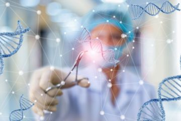 Researcher working with DNA
