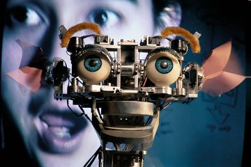 robot with human eyes