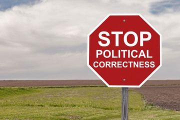 'Stop political correctness' sign