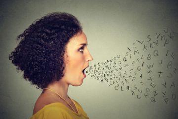 Person speaking, talking