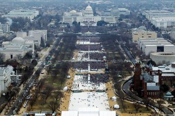 Crowds at Trump's inauguration