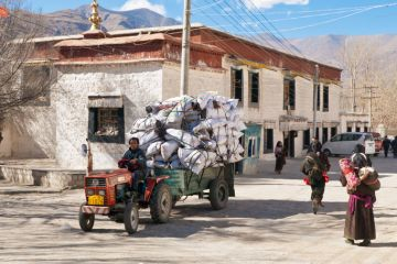 Tractor in Tibet
