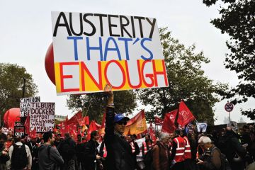 Trades Union Congress (TUC) demonstrators, A Future That Works march