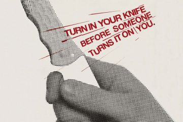 'Turn in your knife before someone turns it on you' police poster