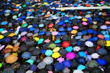 Umbrella protest, Hong Kong, 2019