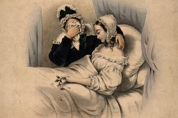 Victorian painting of dead woman