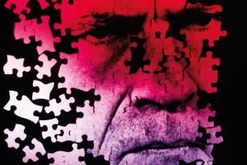 A jigsaw of a frowning man's face as a metaphor for Please don't let me be  misunderstood.