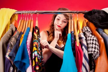 Woman choosing clothes
