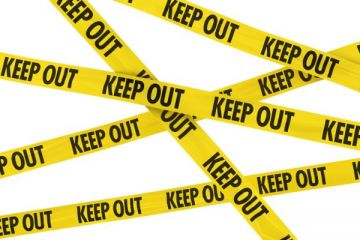 Yellow and black KEEP OUT tape background