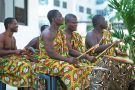 African musicians playing instruments