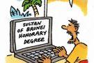 Cartoon on Brunei