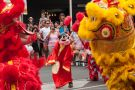 Chinese LionDragon dancers entertain Adelaide crowds during the Chinese New Year Rooster festival held in China Town.
