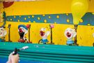 Shooting clown heads at the fairground
