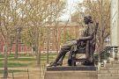 Harvard University statue