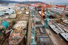 Hyundai shipping yard