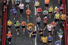 Runner in lion fancy-dress