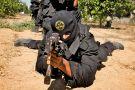 Armed man wearing balaclava