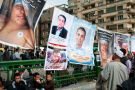 Posters of individuals killed in anti-government protests in Tahrir Square, Cairo, in 2011