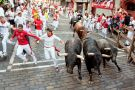 Bull run in Pamplona